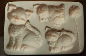 AMACO - Push Mold Cat Kittens and Yarn for FIMO and Other Polymer Clays