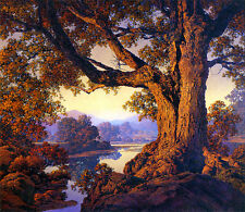 Maxfield Parrish Riverbank Autumn 22x30 Hand Numbered Edition Art Deco Print