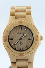 Bewell reloj de madera fecha Arce 42mm producto a regalo genial mujer hombre