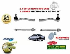 FOR TOYOTA AVENSIS 1997-2003 2x OUTER + 2x INNER STEERING TRACK RACK TIE ROD END