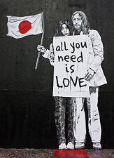 Banksy Mr Brainwash Yoko Lennon 8 x 10 inch Canvas Print Street Art Graffiti