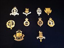 DEALERS / COLLECTORS  LOT OF 10 BRITISH ARMY NON-INFANTRY CAP BADGES FREE P&P