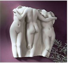 Hellenistic Masterpiece Replica The Three Nude Ladies of Grace Wall Sculpture