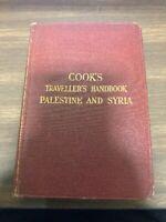 Cook's Traveler's Handbook Palestine And Syria 1924 Maps Plans