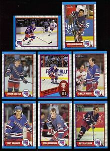 1989-90 OPC New York Rangers Team SET (17) Brian Leetch RC Tony Granato LaFleur