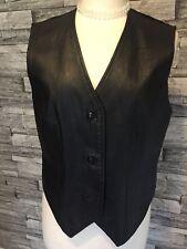 Mens? Black Leather Waistcoat By Mamut Modern
