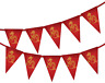 Chinese New Year Dragon Bunting Banner 15 flags by PARTY DECOR - 新年快乐 / 新年快樂