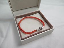 New Pandora Orange Large Multi Strand Cord Bracelet 590715COEM M3 Halloween