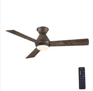 Home Decorators Collection AM641H-SW Emery 56 in. LED Seasoned Wood Ceiling Fan