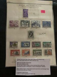 1949 1953 1956 Gilbert and Ellice Islands various stamps 1d, 1d, 2d, 3d Mint E84