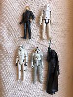 5 Vintage Kenner Star Wars Action Figures - 1977 to 1983 -Darth Vader, Luke, etc