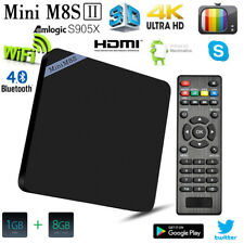 Mini M8S II Smart TV BOX Android 6.0 S-905X 1+8GB H.265 QuadCore 4K Media Player