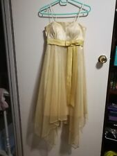 Womans GOLD long formal dress size small