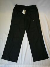 NWT Anthology Women Loose Summer Yoga Black Trousers Wide Leg Clothes