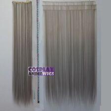 Dark Grey Hair Weft Extention (3 pieces) - 60cm High Temp - Cosplay 7_906