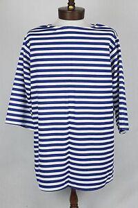 Pirate Shirt Clown/ Ethnic Blue & White Stripe 100% Polyester Multi Use Shirt