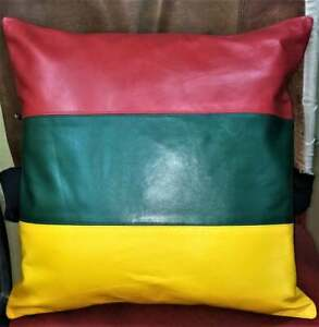 Cover Leather Pillow Cushion Case Lambskin Real Soft Genuine Throw 100% Leather