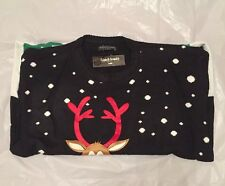 Mens Womens Novelty Christmas Jumper Knitted Sweater Retro Unisex XL