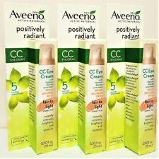 3-PACK Aveeno Positively Radiant CC Eye Cream Fair to Light SPF 25 0.5 oz (15ml)