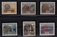 P126382/ AUSTRIA – ROTARY - MI # 518 / 523 COMPLETE MINT MNH CERTIF – CV 715 $