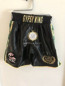 Tyson Fury Signed Boxing Fight Replica Shorts V Wilder 2   RARE COA