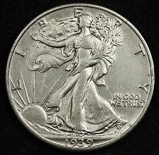 1939 Walking Liberty Half.  A.U.  91512  (Inv. A)