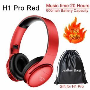 Bluetooth Headphones Wireless Pro HiFi Stereo Earphone Gaming Headset Ear Mic Pc