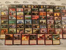 100 card 5 Color Dragon Deck - Ready to Play - EDH Commander - Magic MTG FTG