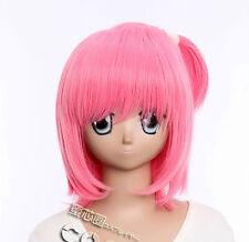 W-331 Shugo Chara Amu Cosplay Parrucca Wig ROSA PINK Perruque calore fisso trecce