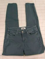 Paige Hoxton Ultra Skinny Jeans Size 26 Denim Green Stretch Jegging