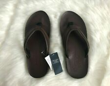 NWT Abercrombie & Fitch Leather Flip Flops Mens Size XXL Brown