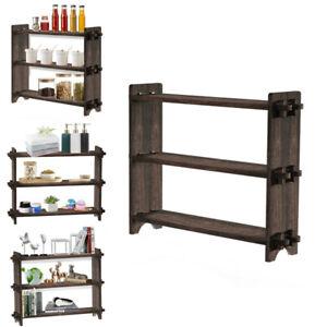 Utility 3Tier Ladder Wood Bathroom Shelf Succulent Plant Stand Bookshelf Storage