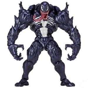 Black Spider man Kaiyodo Revoltech Yamaguchi Venom PVC Action Figure Toy new box