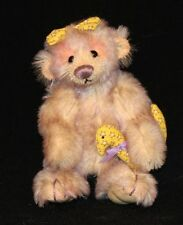 Deb Canham Inbetweenies 5 Inch Jointed Mohair Bear Squeak Pairs with Bubble
