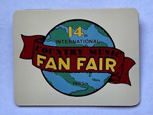 1985 14th International Country Music Fan Fair Pin Back Button Badge Nashville