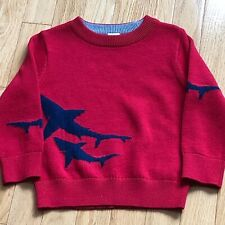 GAP TODDLER BOYS BABY SHARK INTARSIA SWEATER, 18-24M, NEW WITH TAGS