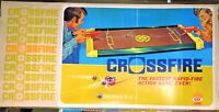 "Vintage ""CROSSFIRE"" Game - 2 Player Shooting Fun - IDEAL 1971 Complete Excellent"