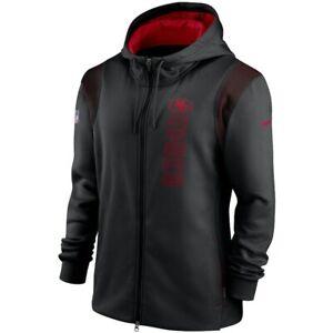 New 2021 NFL San Francisco 49ers Nike Sideline Team Performance Full-Zip Hoodie