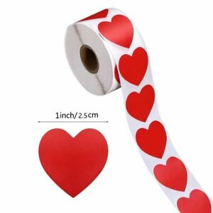 Heart Red Stickers seal Labels scrapbooking Package and wedding decoration stati