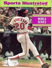 1971 Sports Illustrated magazine,Baseball, Frank Robinson, Baltimore Orioles FLR