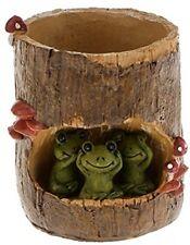 Pot Planter Frog Flower Plant Durable Office Home Indoor Outdoor Garden Ornament