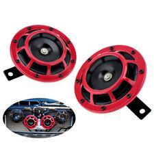 2PCS 12V Red Loud Compact Electric Blast Super Tone Hella Horn For CAR/TRUCK