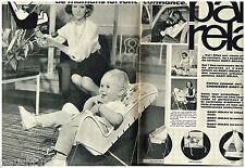 PUBLICITE ADVERTISING 105  1964   Le siège bébé BABY RELAX  (2p)