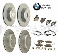 For BMW F10 528i xDrive Front & Rear Vented Disc Rotors & Pads & Sensors Kit OES