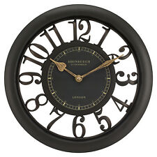 """20858 Edinburgh Clock Works Company 11.5"""" Floating Dial Wall Clock by Equity"""