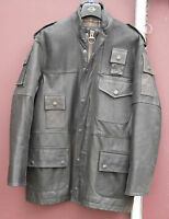 Barbour Jacket leather cowen dark brown size medium 40in totally excellent cond