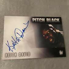Keith David Signed Pitch Black Authentic Autograph Card Rare Rittenhouse