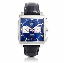 Tag Heuer Men's Monaco Calibre 12 39mm Black Automatic Watch Caw2111.fc6183