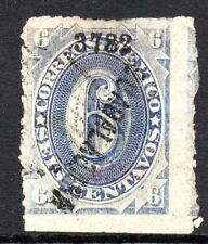 Mexico 1882 Foreign Mail Small Numeral 6¢ Ultra Guadalajara VFU M51