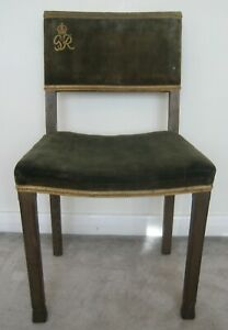 1937 Original King George VI Coronation chair